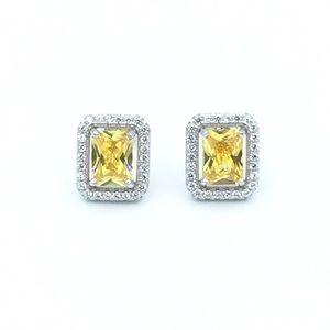 Jewelry - 🛍925 SS Yellow Cubic Zirconia Stud Earrings🛍
